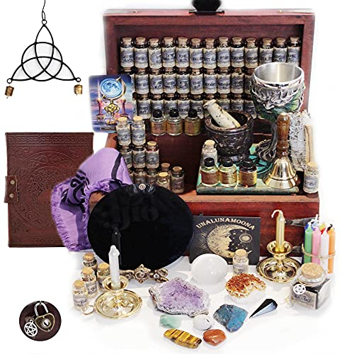 UnaLunaMoona Huge Witchcraft Kit   116 Wiccan Supplies and Tools  ...