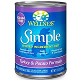 Wellness Simple Natural Wet Canned Limited Ingredient Dog Food, Turkey & Potato, 12.5-Ounce Can (Pack of 12)