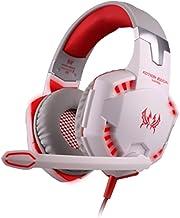 KOTION Cada G2000 estéreo de 3,5 mm Over-Oreja Gaming Gaming Headset de Auriculares con micrófono estéreo Bass luz LED para PC del Juego