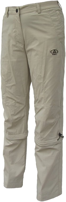 Maul Trail Women's Capri Outdoor Zip Off Trousers, Sand, 54