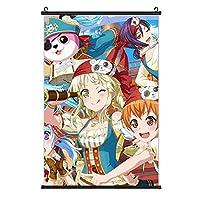バンドリ-ガルパ-弦巻こころ3 ポスター 絵を掛ける 3 Dプリント ファッション 装飾画 壁の装飾 室内日本 アートポスター 壁画の装飾 ポスター掛け インテリアアート壁 流行のプレゼント