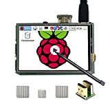 UCTRONICS 3.5 Inch HDMI TFT LCD Display with Touch Screen, Touch Pen, 3 Heat Sinks for Raspberry Pi 3 Model B+, 3 Mode...
