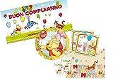 Procos IRPot - Kit N.38 Winnie The Pooh Coordinato TAVOLA per Compleanno con Decorazione MURALE