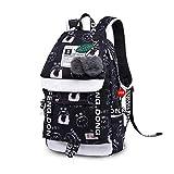 Schultaschen für Teeange-Mädchen-Nette chinesische Schriftzeichen-Schulkinder-Rucksäcke C1