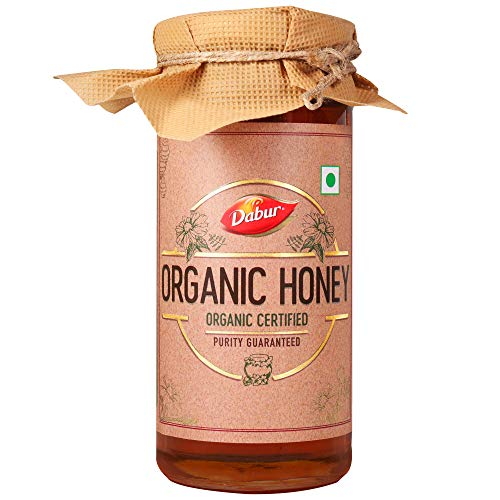 Dabur Organic Honey | 100% Pure and Natural |Unprocessed and Unpasteurized Honey| No Sugar Adulteration -300gm