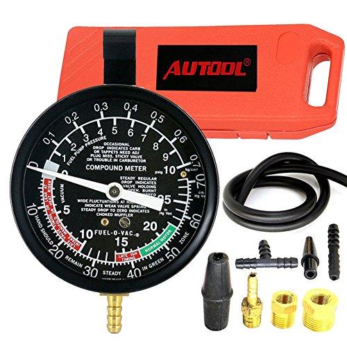 AUTOOL Carburettor Valve Auto Pump Pressure Vacuum Tester Gauge Test
