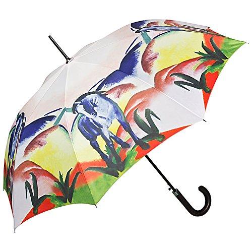 VON LILIENFELD Regenschirm Franz Marc: Blaues Pferd Auf-Automatik Damen Kunst Stabil Stockschirm