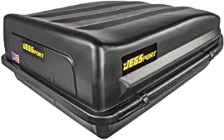 JEGS Rooftop Cargo Carrier | Hard Car Top Large Luggage Box | Waterproof Storage | Heavy Duty Solid Case | Made in USA | 1...