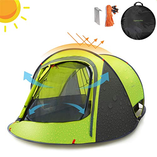 professional Camping tent Sunny chic pop-up tent, automatic instant tent setting with UV sunscreen …