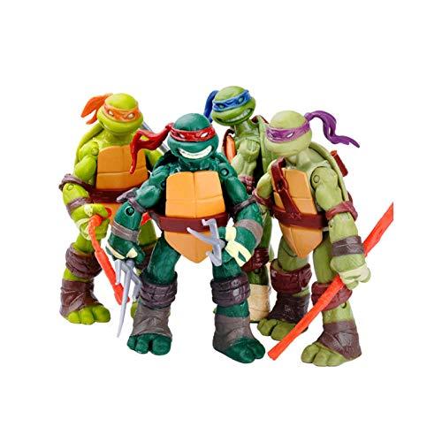 Tortugas Ninja Set Teenage Mutant Ninja Turtles Figura de Acción Modelo de Personaje de Anime Juguetes Tortugas Ninja Juegos de Figuras de Acción Colección de Cumpleaños para Niños 12cm (4.8 '')