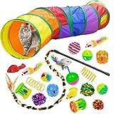 Best Cat Tunnels - Malier 20 PCS Cat Kitten Toys Set, Collapsible Review
