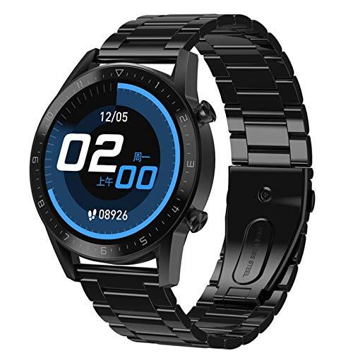ZEIYUQI Compatible con iOS/Android SmartWatch Brazalete,Altavoz Incorporado Llamada Bluetooth,Reloj Deportivo Pulsera MúLtiples Modos Deportivos,Monitorización Dinámica Cardíaca,BlackSteel