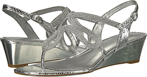 Adrianna Papell Cannes Silver Metallic Rope 8