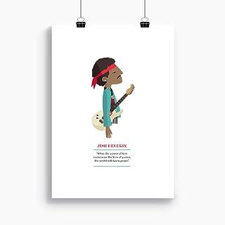 """Stampa""""Jimi Hendrix."""" Disponibile in due misure: A4 / A3. Citazione inclusa."""