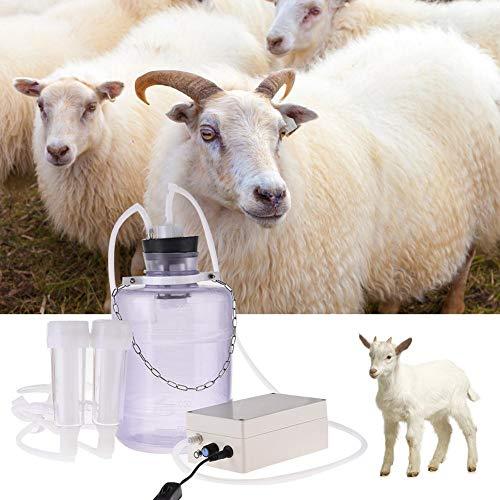 jinclonder elektrische Melkmaschine, 3L verbesserte elektrische Milchpumpe Schaf Melkmaschinen Konfiguration Haushalt justierbarer Saugmilchbehälter