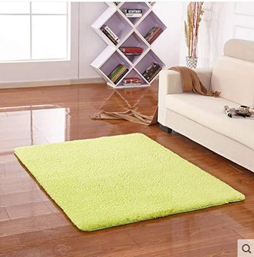 YUANCJ Home Wohnzimmer Teppich,Langes Haar Verdickung Teppich Lamm Samt Nachahmung Mähne Antarktis Samt Teppich Wohnzimmer Tür Couchtisch wasserabsorbierende Anti-Rutsch-Tür grün, 160 × 230CM