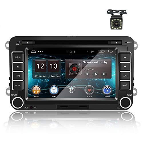 Android 9.0 Autoradio Lettore DVD GPS per VW CAMECHO Touchscreen da 7 pollici Radio FM Bluetooth WiFi Dulica Schermo telecamera posteriore per Volkswagen Passat Golf Polo Seat Skoda