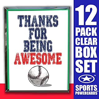 Play Strong Baseball Thanks for Being Awesome Note Cards (4.25