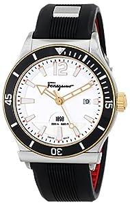 Salvatore Ferragamo Men's FF3110014 FERRAGAMO 1898 SPORT Analog Display Swiss Quartz Black Watch image
