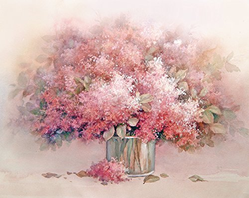 Pink Lilac Flowers Art print of Watercolor Painting - Flowers, Girl's Room, Gift for Ladies
