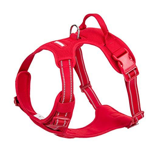 Arnés de Seguridad Reflectante para Perros pequeños Chaleco para Perros sin tensión Chaleco Deportivo para Perros arnés para Perros Productos para Mascotas-Red_Dog_Harness_M_56-69cm_Chest