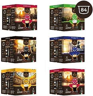 Caja de selección SanSiro No. 4 - 84 cápsulas de café compatibles con Dolce Gusto®* - 6 paquetes de 14 cápsulas cada uno