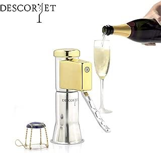 Descorjet Champagne Bottle Opener. Open your bottles easily with this original corkscrew. Original of stainless steel and golden details. (Model Gold)
