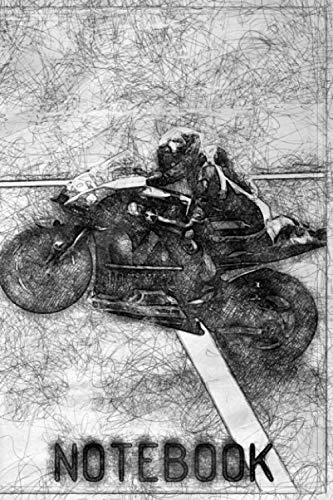 Notebook: Moto GP checkered notebook, Motorbike journal perfect for Motorsport fan, 6x9