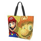 Game Cartoon Super Mario Damen Mode Mädchen Reise Schule Lebensmittel Canvas Einkaufen Geschäft...