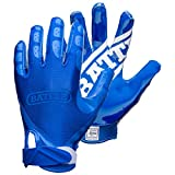 Battle Double Threat Adult Football Gloves, Blue, X-Large