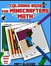 Coloring Book For Minecrafters: Math Coloring Book: Calculate and Color Squares (Unofficial Book)