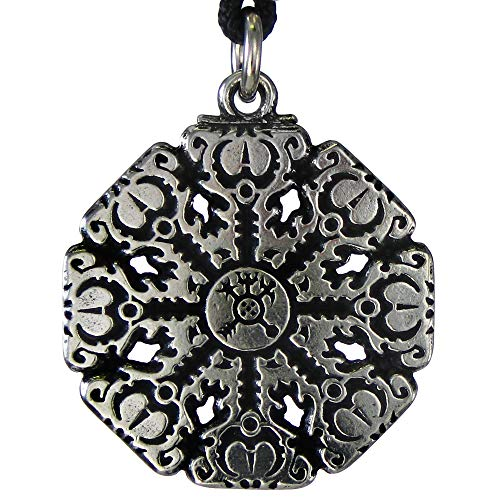 Helm of Awe Aegishjalmur Rune Pendant Talisman Norse Jewelry for Warrior Protection