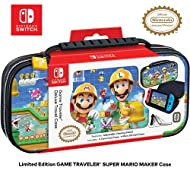 RDS Industries Officially Licensed Nintendo Switch Super Mario Maker Carrying Case- Protective Delux...