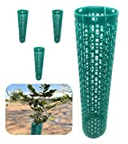 Smart Spring Plant and Tree Guard Protector; Wrap Tall Expandable Grow Tubes...