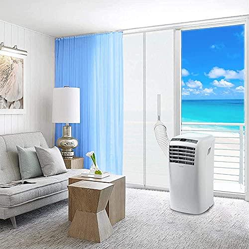 Junta de puerta para climatizadores móviles, secadoras de aire acondicionado, para puertas y ventanas, portátil, kit de sellado de aire caliente con junta de puerta con cremallera, 90 x 210 cm