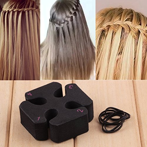 Modischer DIY-Lockenwickler, magischer Flechthaken, Wasserfallwellenwickler, Haarstyling für Partys, Zubehör für Frauen und Mädchen, 1 Stück, von cuhair