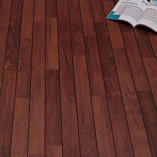 PVC Bodenbelag Schiffsboden Bootsdeck Red Brown (Muster DIN A4)