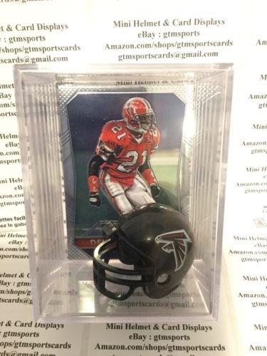 Deion Sanders Atlanta Falcons Mini Helmet Card Display Collectible Case HOF Auto Shadowbox Autograph