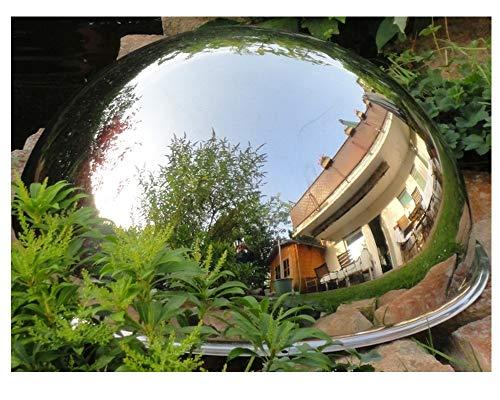 Kugelspiegel aus Edelstahl 360 Grad 600 mm - Ideal als Abdeckung für Teichpumpe + als exklusiver Gartenspiegel
