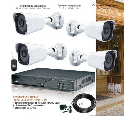 HD Dahua–Kit de Video vigilancia con 4Cámaras Exteriores 1080p–Kit–D25–4x 2940–sin Disco Duro