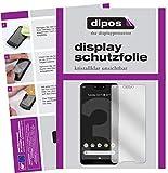 dipos I 2X Schutzfolie klar kompatibel mit HTC Exodus 1 Folie Bildschirmschutzfolie (bewusst Kleiner als das Glas, da Dieses gewölbt ist)