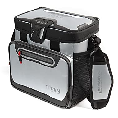 Arctic Zone Titan Deep Freeze 16 Can Zipperless Cooler, Silver