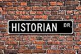aqf527907 Heimdekorationsschild, Historianisches Geschenkschild, Bibliotheksgeschichte, Buchgeschichte, Studium, Professor Metallschild für den Außen- und Innenbereich