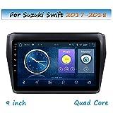 LHWSN 9 Inch Capacitive Touch Screen for Suzuki Swift 2017-2018 Car Radio GPS Navigation Steering Wheel Control Stereo Head Unit Link Mirror WiFi Bluetooth AM RDS HiFi SWC,4G WiFi 2G 32G