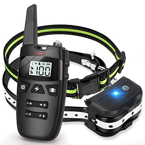 Dog Training Collar with Remote—Shock Collar for Dogs UP to 1600 Ft Range,Rechargeable& Waterproof Shock Collar with Vibration/Shock/Beep 1-100 Levels,2 Adjustable Collar for Small Medium Large Dogs