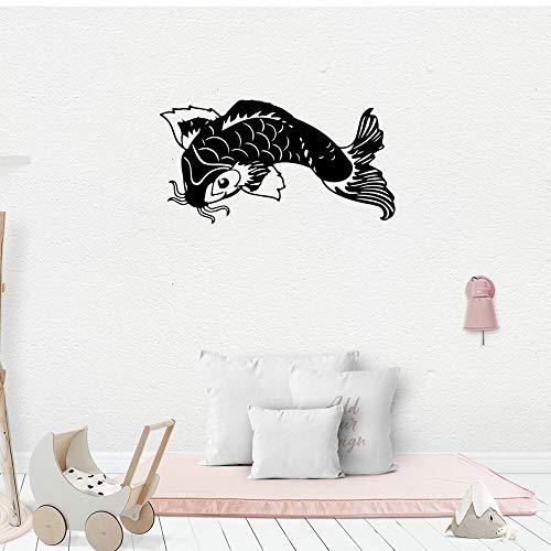 WERWN Etiqueta engomada Creativa de la habitación de los niños de la decoración de la Etiqueta engomada de la Pared de los Pescados de Koi
