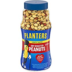 PLANTERS Lightly Salted Dry Roasted Peanuts, 16 oz. Resealable Jar - Peanut Snack - Great Movie Snac