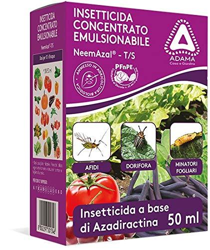 KOLLANT insetticida concentrato emulsionabile NEEMAZAL T/S ADAMA DA 10 ML CON SIRINGA MISURATRICE adatto per afidi dorifora minatori fogliari e altri insetti