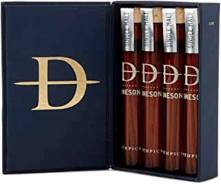 Daneson No 16. Wooden Toothpicks Single Malt! 4 pack Gift Box Scotch Infused Flavored Toothpicks! Essence Of Barrel Aged Scotch In A Sliver Of Wood! Great Gift For Men!
