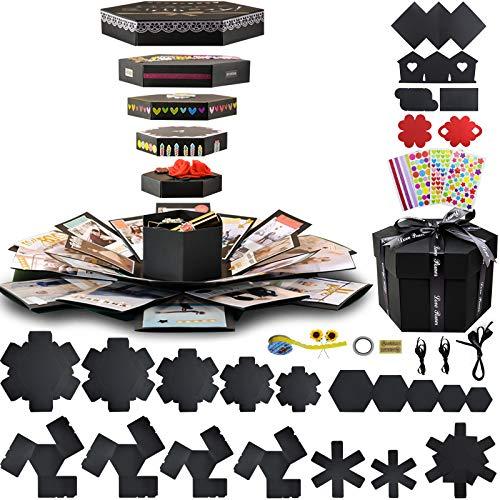 Caja de regalo para álbum de recortes, álbum de fotos, caja para cumpleaños, aniversario y boda de Explosion